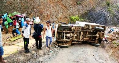 Arunachal: 1 dead, 2 injured in two road accident