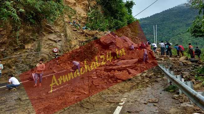 Assam: Massive landslide blocks Shillong-Silchar NH-44