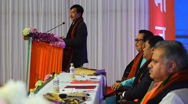 BJP adopts resolution for separate Arunachal cadre of All India Services Officers