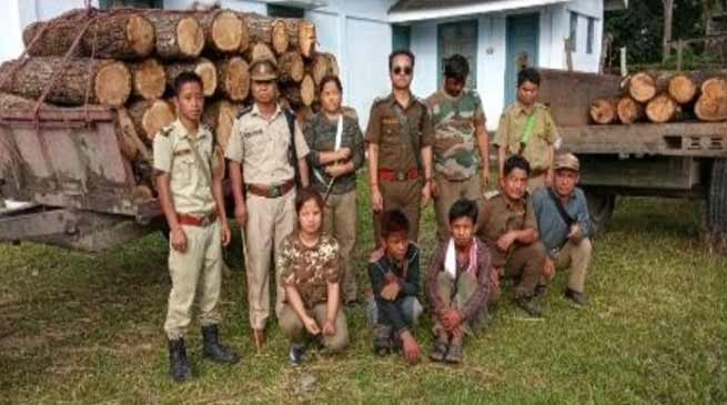 Arunachal: 2 Tractor loaded with khair logs seized from Digaru reserve forest