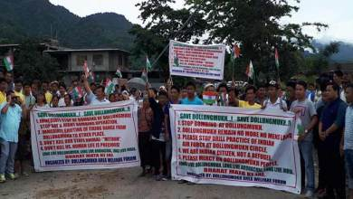 Photo of Arunachal: Public protest demanding a stop to Bombing practice and shifting of IAF bombing zone