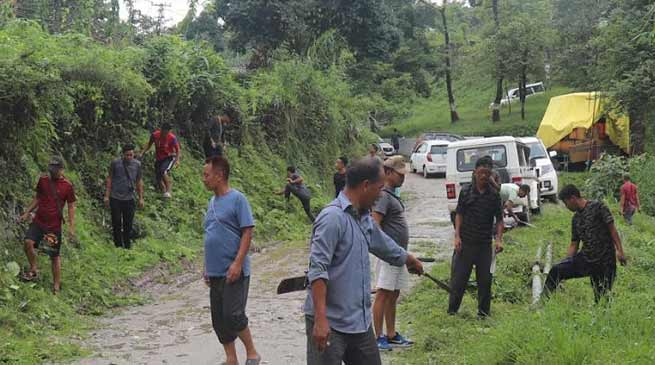Arunachal: Police personnel conduct social service at 1st APPBn campus
