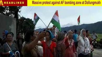 Arunachal: Protest march against AF Bombing zone at Dollongmukh