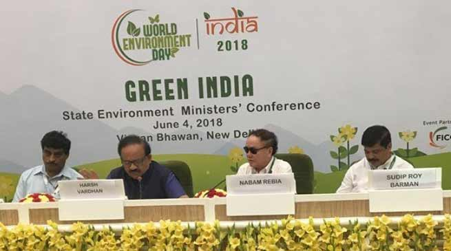 Nabam Rebia chaired the Environment Ministers conference held at Delhi