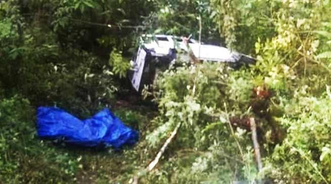 Arunachal: Tata Sumo skidded off the road, 2 Critically injured