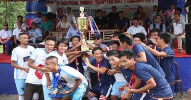 Arunachal: NRFC lift the 6th vocational running trophy football tournament