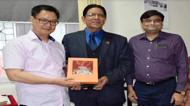Arunachal: Honoris Causa Doctor of Literature Award conferred to Kiren Rijiju
