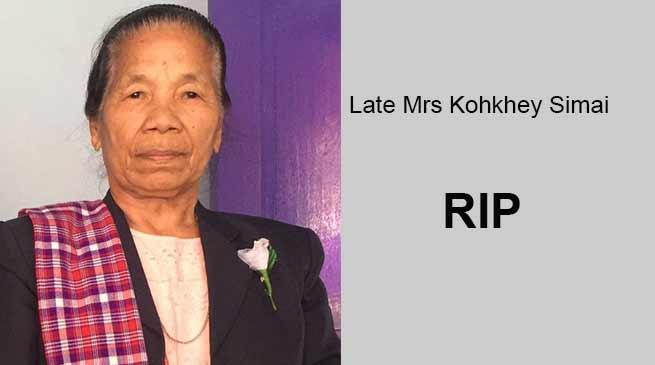 Arunachal: Mrs Kohkhey Simai, mother of BJP MLA Laisam Simaipasses away