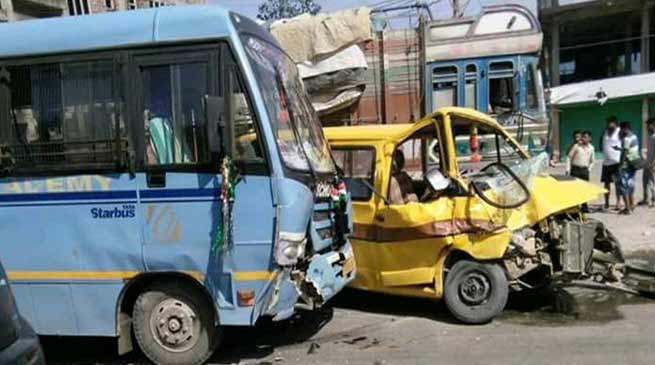 Arunachal:  Two school bus collided, 6 students injured