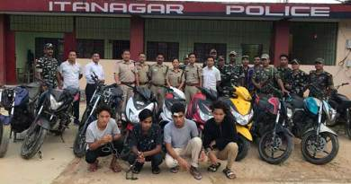 Arunachal:  Bike lifter Gang busted, 15 bikes recovered