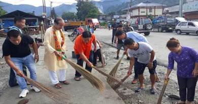 Arunachal : BJPMM organises cleanliness drive at Roing