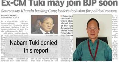 Arunachal:  Nabam Tuki denied any move to join BJP