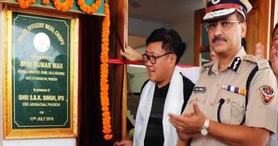 Arunachal: Kumar Waii inaugurates Police Officers' Mess and Walking Track
