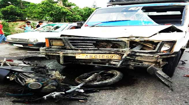 Itanagar:  3 injured in road accident in Capital Complex