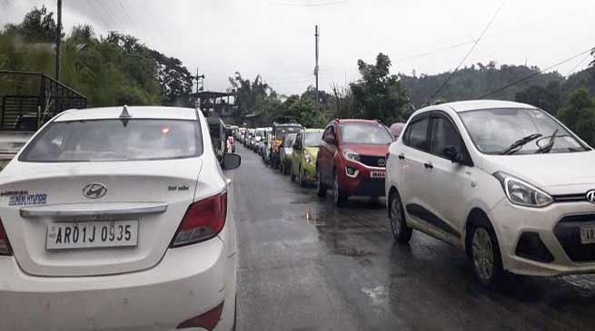 Arunachal:Itanagar-Naharlagun witness unprecedented traffic jam
