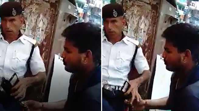 Arunachal: Traffic Constable caught taking money, captured in camera