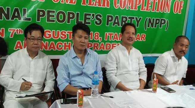 Arunachal: NPP celebrates one year completion of state unit
