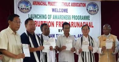 Itanagar:Tuki gives a clarion call for corruption fee Arunachal