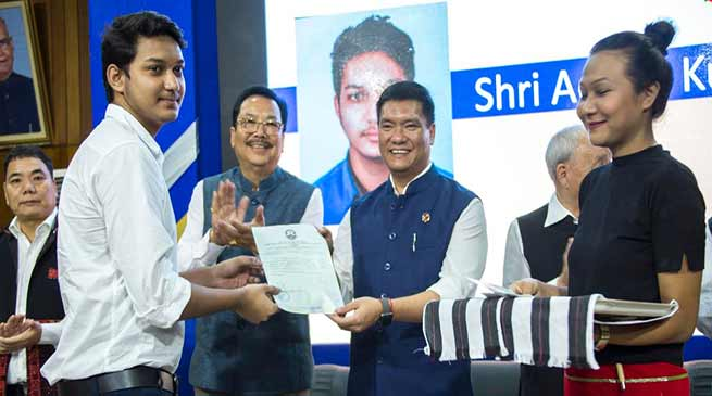 Arunachal: TRIHMS begins it's academic session, CM Khandu hands over letter of admission to the first batch of MBBS students