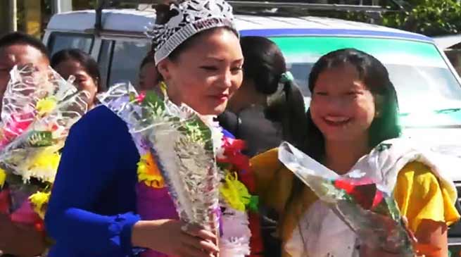 Arunachal: Takam Hima Techi crowned Mrs India NE subtitle