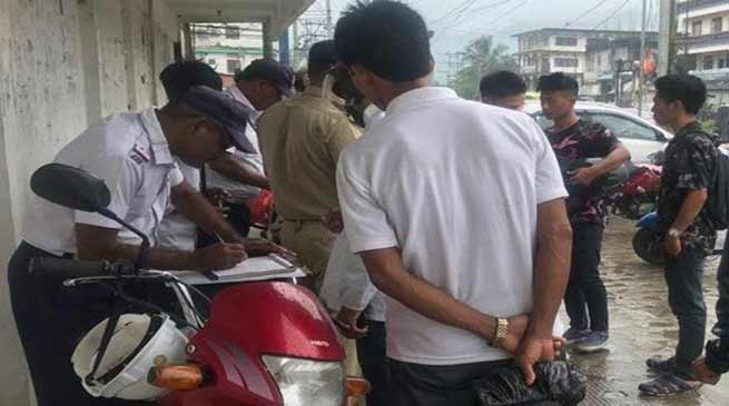 Arunachal: Drive against traffic violations in Naharlagun