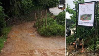 Itanagar: Tale of a city road which is at the verge of collapse