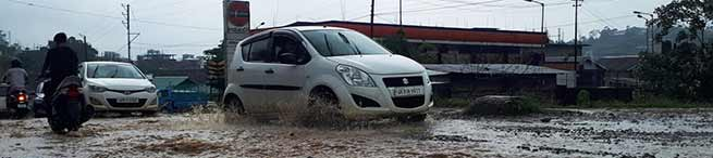 Arunachal:One hour of rain leaves capital complex waterlogged, slows down traffic