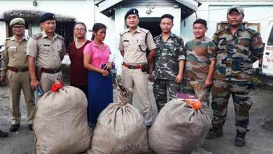 Photo of Arunachal: Woman Held For Drug Peddling in Doimukh, 36 kgs Ganja seized