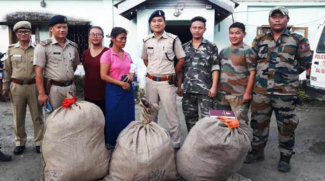 Arunachal: Woman Held For Drug Peddling in Doimukh, 36 kgs Ganja seized