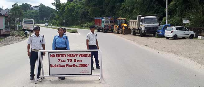 Itanagar: Entry of heavy vehicles banned in capital complex during day time
