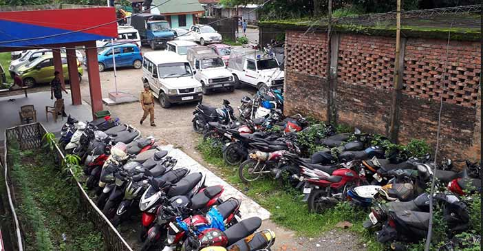 Itanagar :  Capital police need to disposed off vehicles accumulated at PS premises