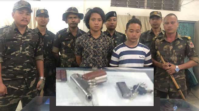 Arunachal: 2 arrested while selling Pistol in a petrol depot at Banderdewa