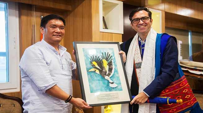 Arunachal: British Council Director Alan Gemmel calls on CM Pema Khandu