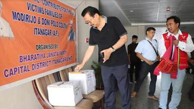 Photo of Itanagar landslide, flash flood: BJP City Unit organises donation drive for victims