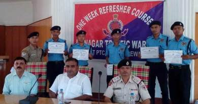 Week long training programme of 179 Itanagar Traffic Warden (ITW) at Police Training Centre (PTC) concludes.