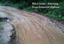 Photo of Arunachal: People pleading for repair of Joram-Koloriang TAH