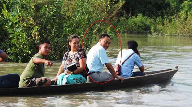 Arunachal: Ering visits flood effected villages and erosion hit sites