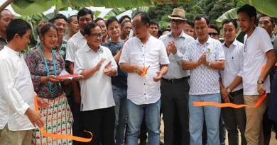 Techi Kaso inaugurates bailey bridge at Modirijo