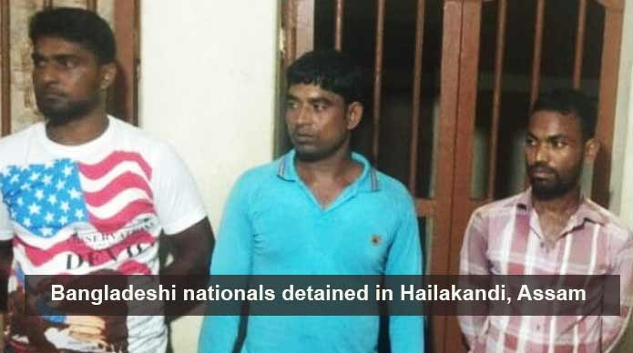 Assam: 3 Bangladeshi nationals detained in Hailakandi for violating Passport Act