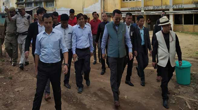 Arunachal Dy CM inspects Boys Hostel in NEFA building at Shillong