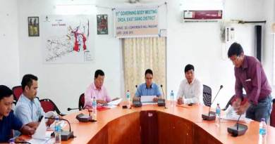 Arunachal: 51st DRDA Governing Body Meeting of East Siang held