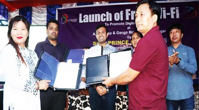 Itanagar:Now free WiFi facility in Ganga Market available