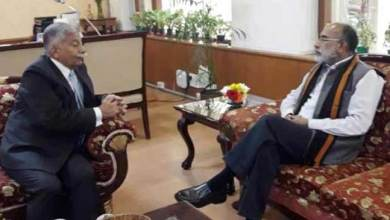 Photo of Arunachal Governor BD Misra meets Tourism Minister K.J. Alphons
