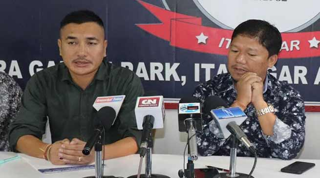 Itanagar: AAPSU reiterated demand for ouster of capital DC Prince Dhawan