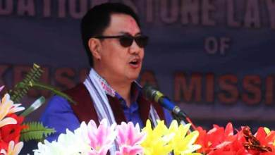 Arunachal: Rijiju concerned with delay, slow progress of PMGSY projects
