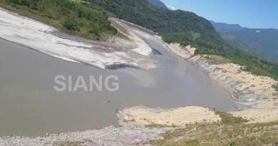 Arunachal: Another landslide on Siang, water level drop at Tuting