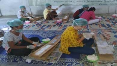 Arunachal: Training and workshop on Sanitary Napkin production