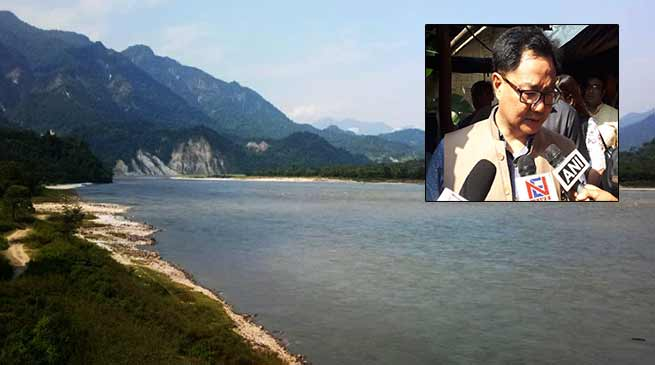 No harm to Arunachal on sudden release of water in Siang river from China - Rijiju