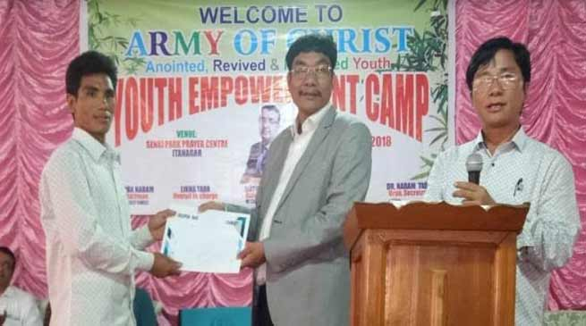 Itanagar: youth should work for the peace of Arunachal-Takam Pario