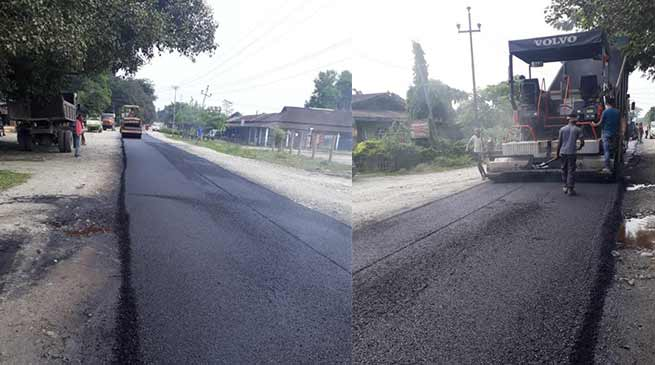 Arunachal : Carpeting of Brahmakund - Chowkham road completes